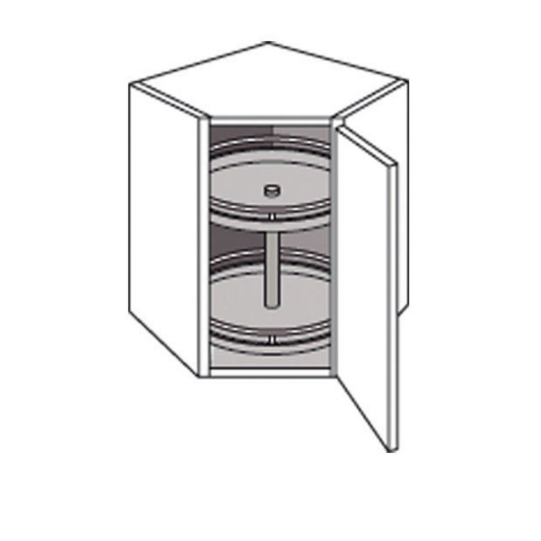 meuble de cuisine haut d 39 angle avec 2 plateaux origine cuisine. Black Bedroom Furniture Sets. Home Design Ideas