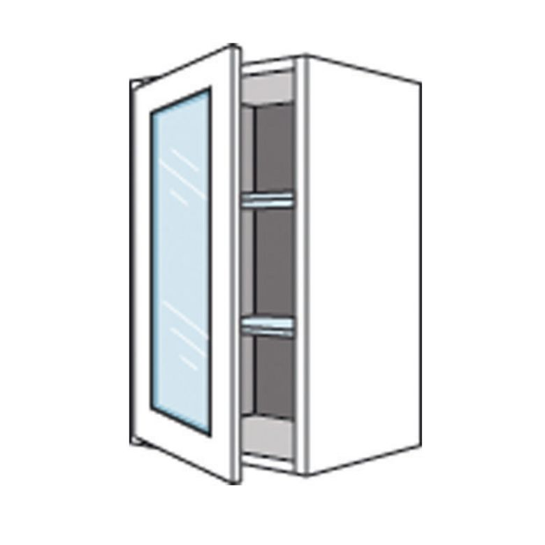 meuble de cuisine haut avec 1 porte vitre origine cuisine