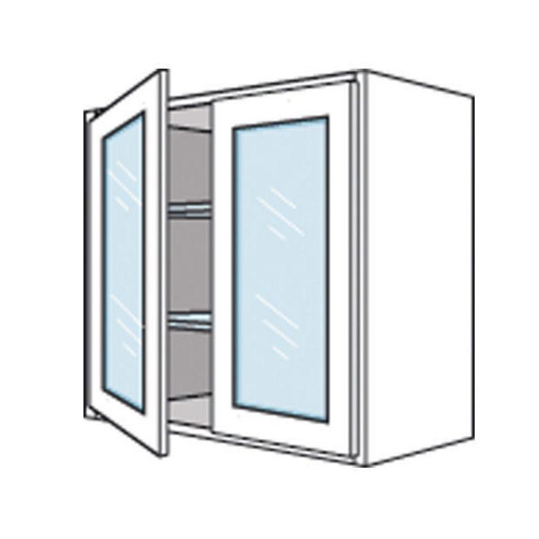 Meuble de cuisine haut 2 portes vitr es origine cuisine - Meuble cuisine haut porte vitree ...