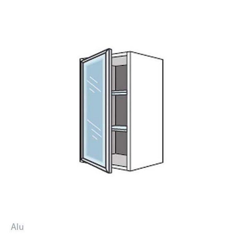 meuble de cuisine haut avec 1 porte et 2 tablettes en verre l 40 cm cuisine. Black Bedroom Furniture Sets. Home Design Ideas
