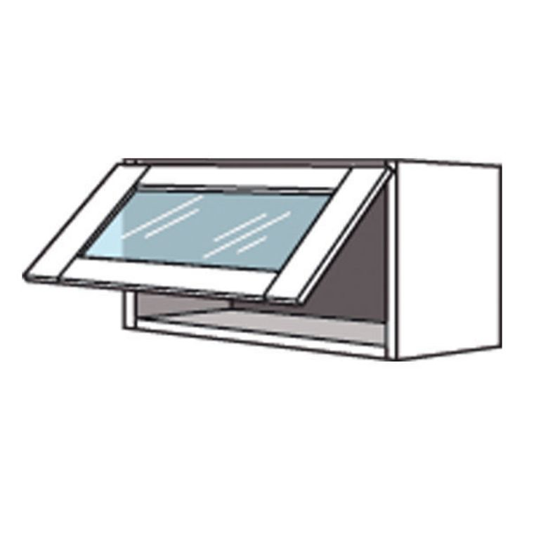 Meuble de cuisine haut avec abattant vitr origine cuisine - Cuisine avec vitre ...