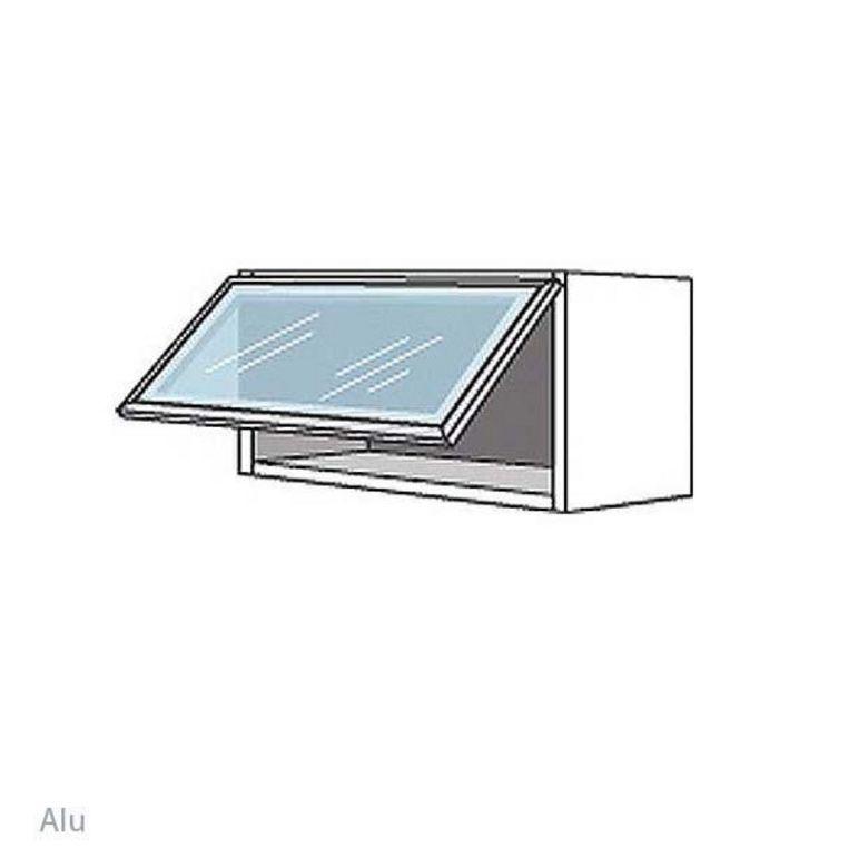 Meuble de cuisine haut avec abattant l 100 cm cuisine for Meuble cuisine haut
