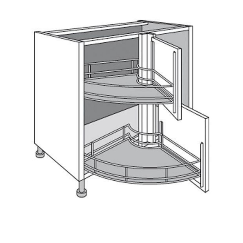 meuble de cuisine d 39 angle bas twister lumio cuisine