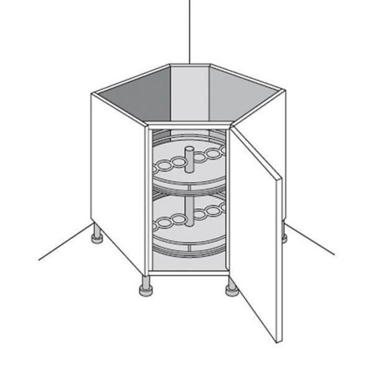 Meuble de cuisine bas rangement en coin lumio cuisine for Meuble rangement bas cuisine