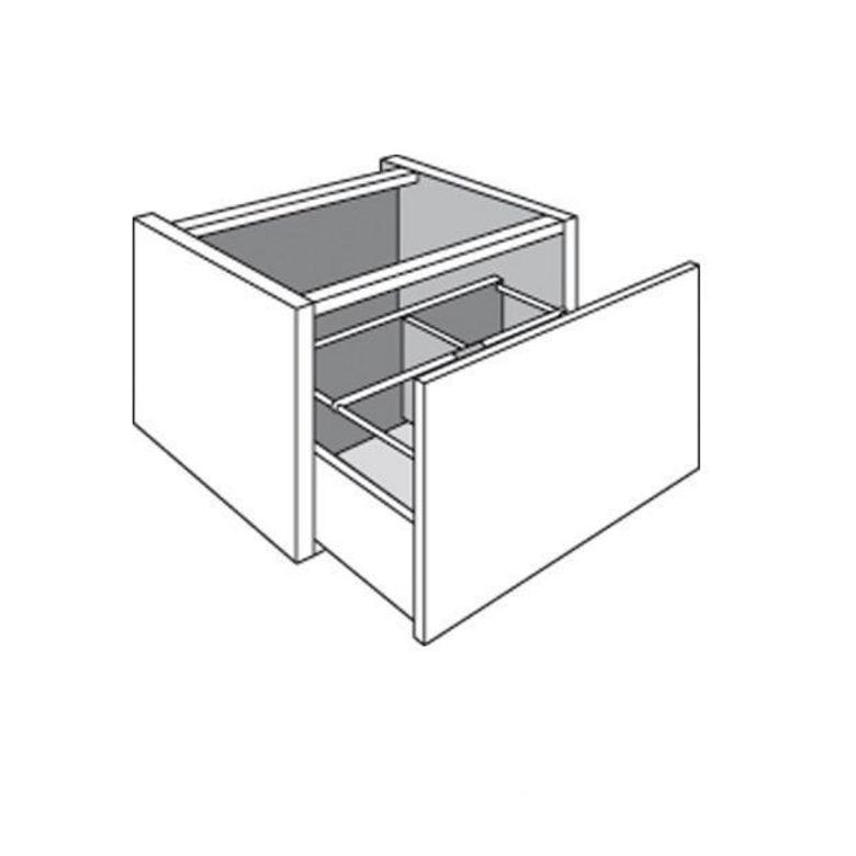 de cuisine 1 tiroir range casseroles banc/suspendu lumio - cuisine - Meuble De Cuisine Suspendu