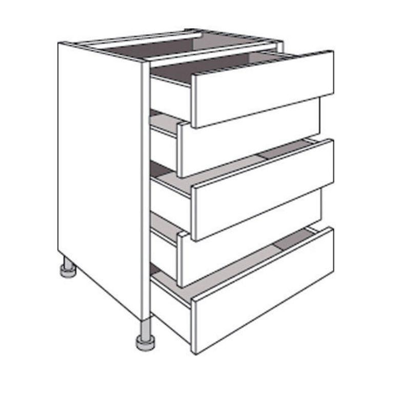 meuble de cuisine bas avec 5 tiroirs lumio cuisine. Black Bedroom Furniture Sets. Home Design Ideas