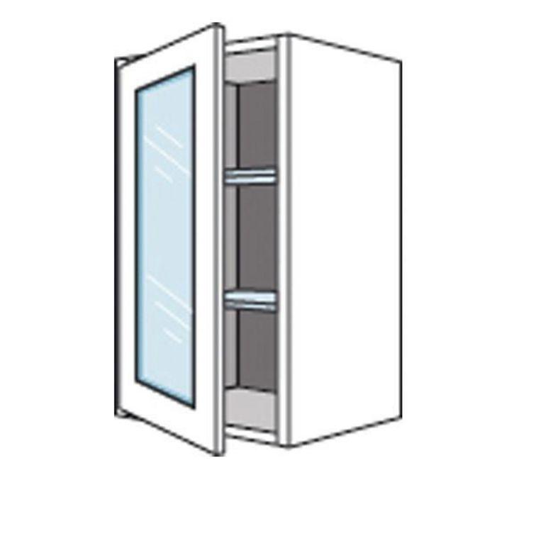 Meuble de cuisine haut avec 1 porte vitr e lumio h 70 cm cuisine for Meuble haut gris cuisine avec porte vitree 2 abattants