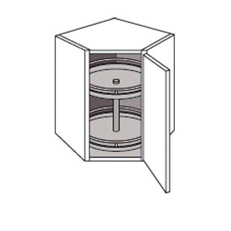 Meuble de cuisine coin haut avec 2 plateaux lumio cuisine - Caisson d angle cuisine ...