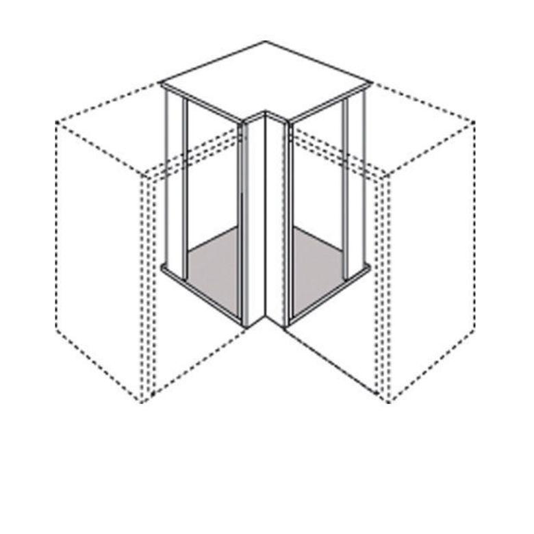 Meuble de cuisine haut d 39 angle recoupable lumio cuisine - Caisson d angle cuisine ...
