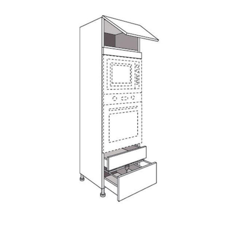 colonne de cuisine pour four et niche de cm lumio cuisine. Black Bedroom Furniture Sets. Home Design Ideas