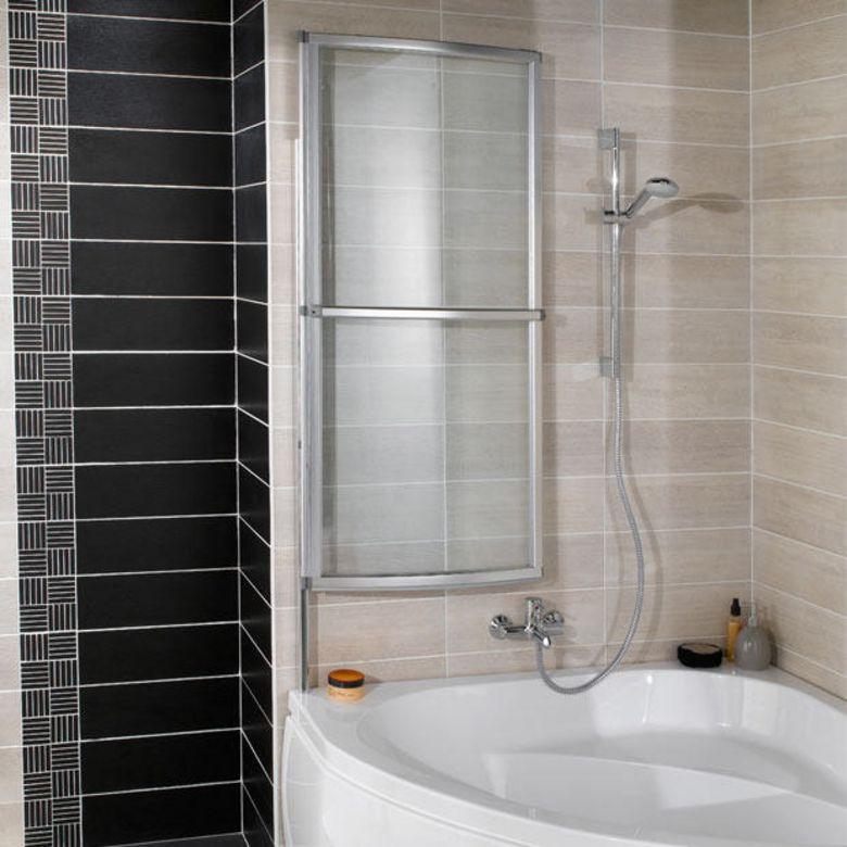 Pare baignoire courbe ola salle de bains for Catalogue baignoire