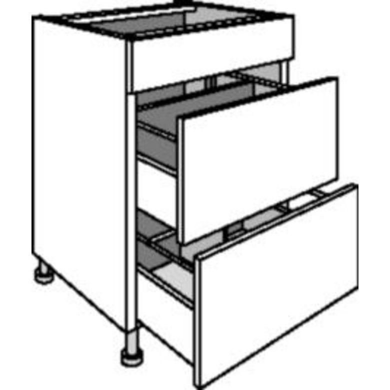 Meuble de cuisine sous vier 1 faux tiroir cuisine for Meuble 3 tiroir ikea