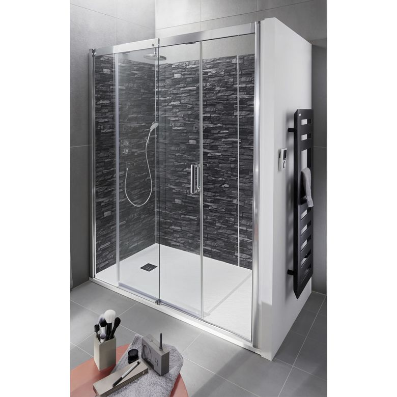 porte de douche coulissante version gauche access salle de bains. Black Bedroom Furniture Sets. Home Design Ideas