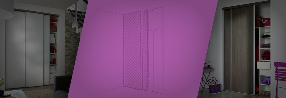 les portes de placard battantes - Peindre Porte De Placard Coulissante