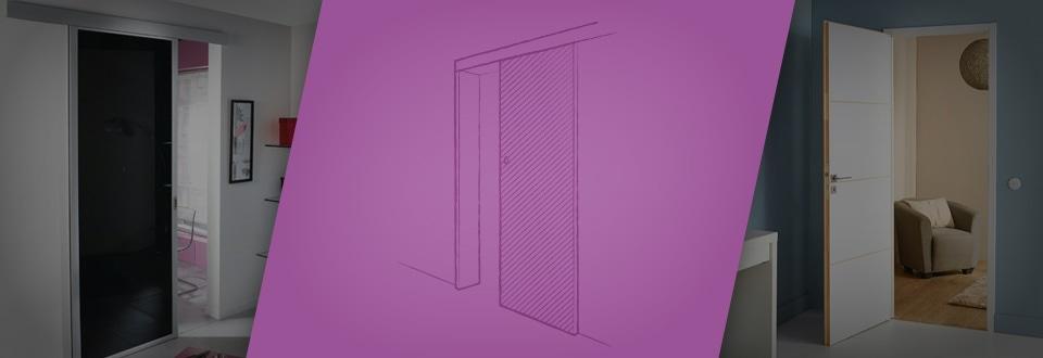 poser une porte coulissante galandage