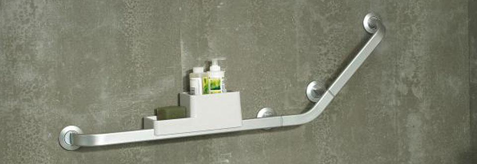 Barre de maintien et porte-savon