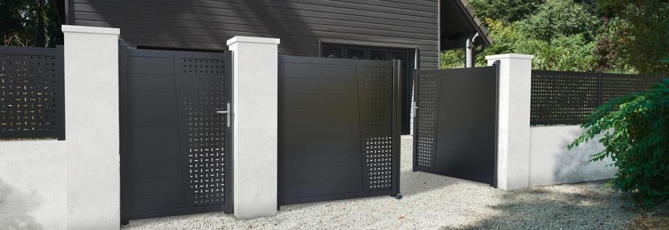 les diff rents types d 39 ouverture de portail. Black Bedroom Furniture Sets. Home Design Ideas