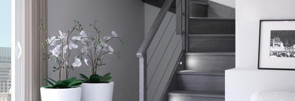 Escalier d'intérieur gris
