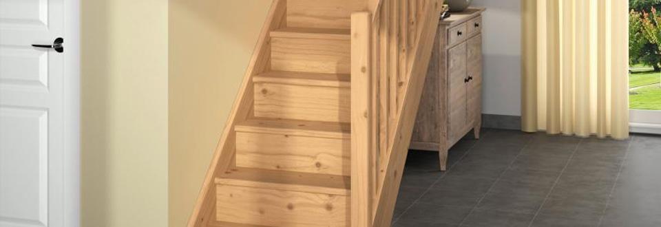 poser un escalier en bois. Black Bedroom Furniture Sets. Home Design Ideas