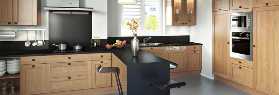 Une cuisine en bois ouverte sur votre s jour - Cuisine bois et ardoise ...