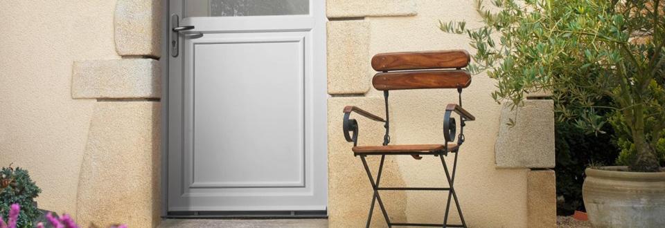 Les Matériaux Des Portes Dentrée - Porte placard coulissante jumelé avec porte extérieure blindée