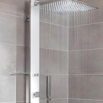 Paroi de douche grand espace line prestige salle de bains Lapeyre colonne douche