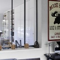 Verri re d 39 atelier noire portes - Poser une verriere interieure ...