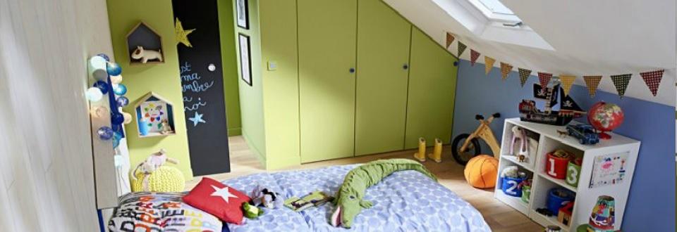 Aménagement sous-comble chambre d'enfant