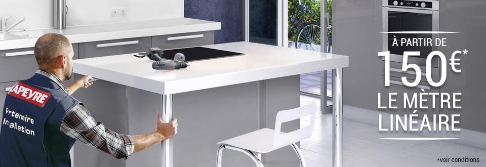L installation domicile for Prix pose cuisine lapeyre